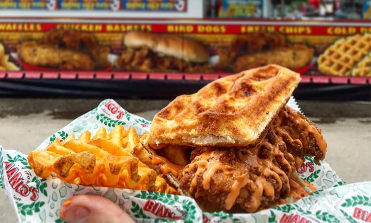 Sriracha Chicken & Waffle Slider
