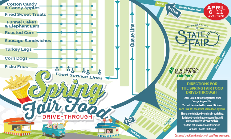 Map of Drive Through Fair Food Layout